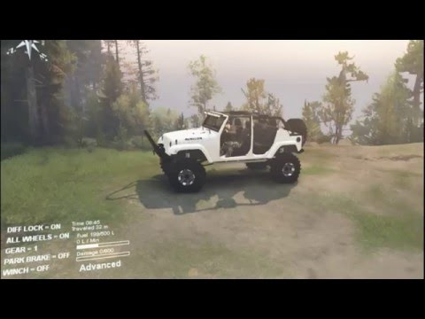 JEEP RUBICON SUNK IN MUD | SPINTIRES | MUDDIN