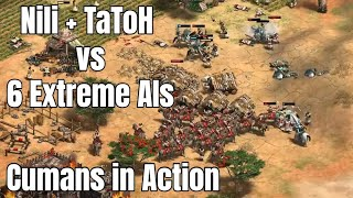 TaToH+Nili vs 6 Extreme AIs - Cumans in Action on AoE2: Definitive Edition (AoE2: DE)