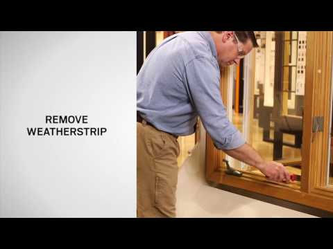 Weatherstrip (Head and Side) Replacement on Andersen® Primed Wood Casement Windows (1932-1989)