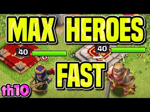 HOW TO MAX HEROES FAST | HERO UPGRADE GUIDE | MASS MINER DARK FARMING | Clash Of Clans