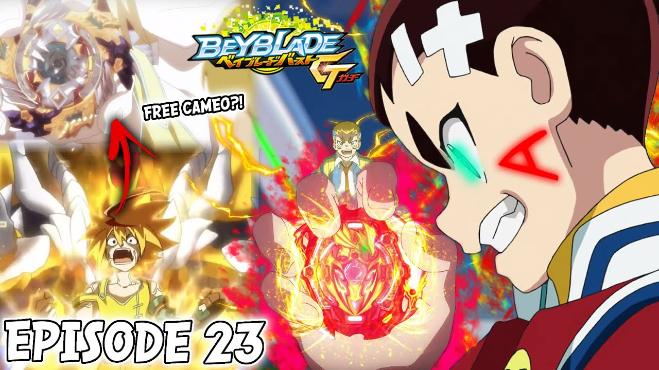 FREE DE LA HOYA IS HERE!(sorta) + GOLD TURBO AND AIGER AKABANE | BEYBLADE  BURST GT EPISODE 23 REVIEW