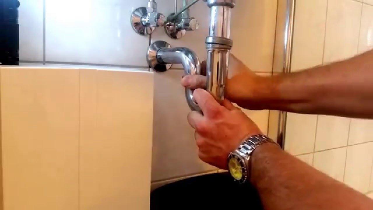 waschbecken abfluss verstopft schnelle hilfe youtube. Black Bedroom Furniture Sets. Home Design Ideas