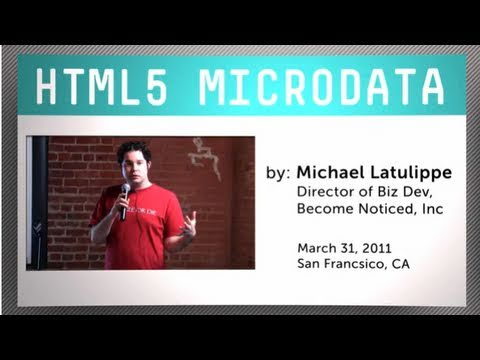HTML5 Microdata - Easily Add Semantic Meaning to Your Site