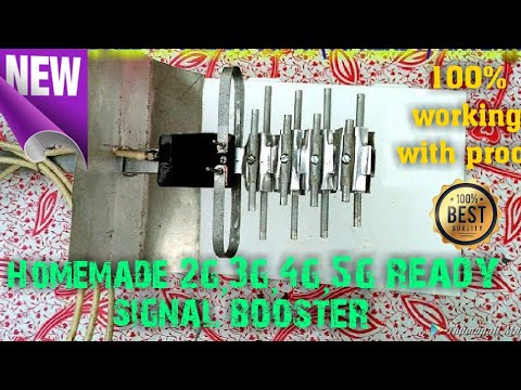 "How to make 2g 3g 4g (5g ready) antenna || Signal booster at home || by ""the techie tech"""