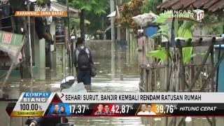 Sehari Surut, Banjir Kembali Rendam Karawang