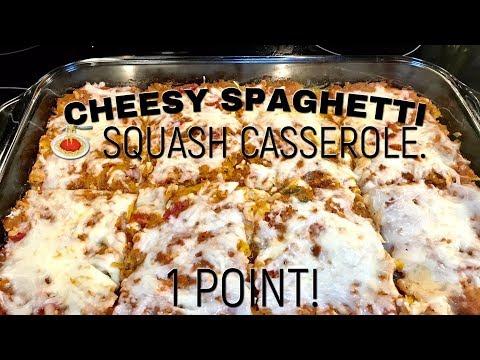 Cheesy Spaghetti Squash Casserole! Weight Watchers Freestyle!