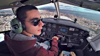 Piper PA28 Cherokee | Approach and Touch & Go @ LCA Intl | Cockpit View GoPro | ATC Comms