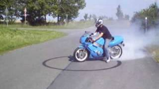 Yamaha FZR 600 R Burnout and racing