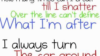 shattered oar lyrics on screen