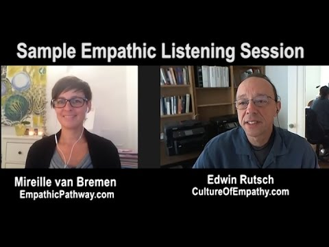 Sample Empathic Listening + Role Play on Writer's Block:  Mireille van Bremen and Edwin Rutsch