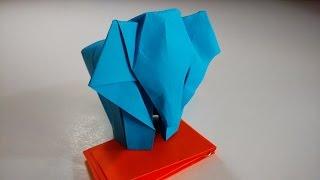 Como hacer un elefante de papel (origami)