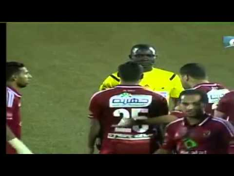 Ref threatens with a red card