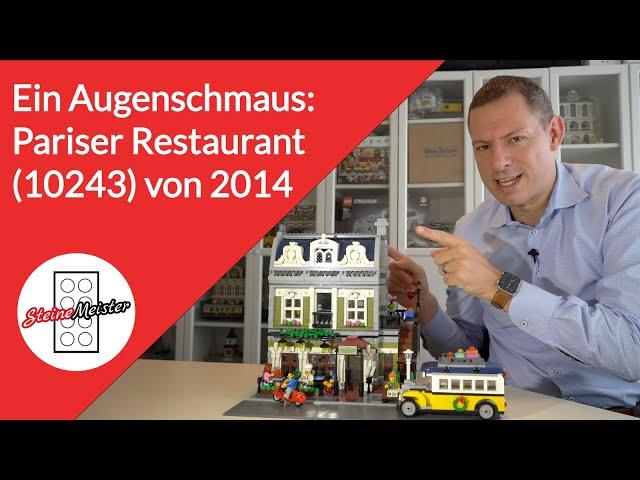 Story: Ein Augenschmaus: Das Pariser Restaurant (10243) von Lego Creator Expert aus dem Jahre 2014