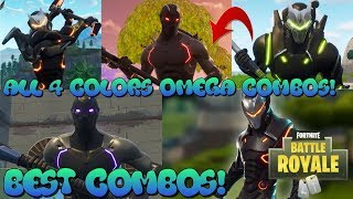 ALL OMEGA 4 COLORS BEST COMBOS EVER *MUST WATCH* | FORTNITE BATTLE ROYALE !