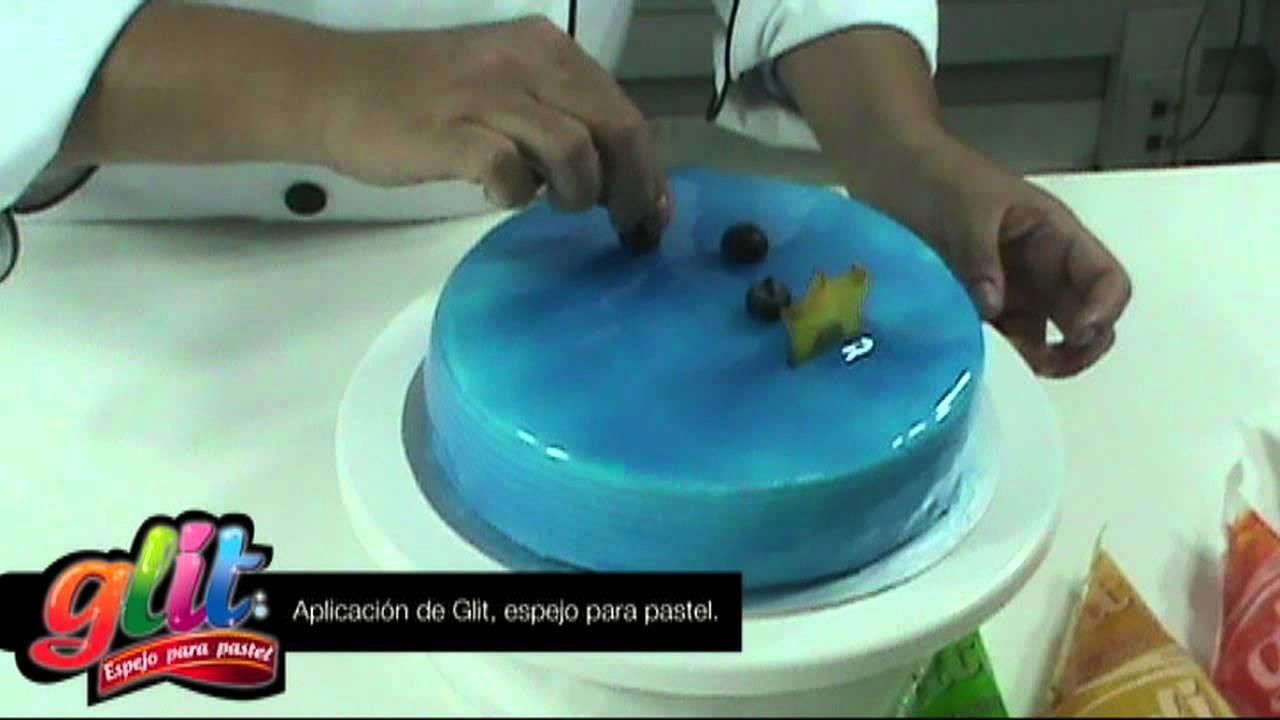 Demostraci n y aplicaci n de glit espejo para pastel - Espejos para rebotar el mal ...