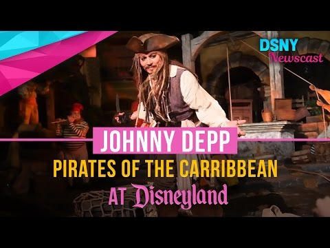 Johnny Depp Hides Inside 'Pirates of the Caribbean' at Disneyland! - Disney News - 27/4/17