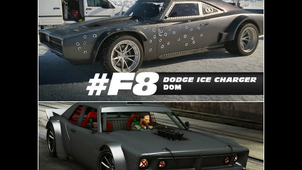 Gta 5 Dom's Dodge ice charger | fast and furious 8 cars | vin ...