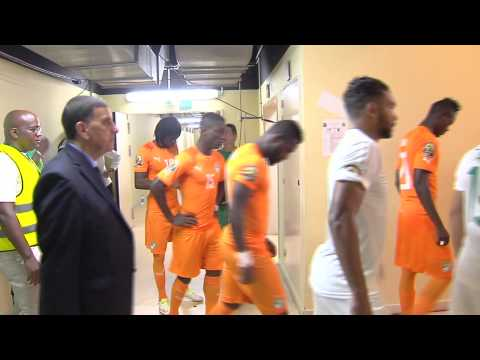 In the Tunnel before Côte D'Ivoire vs. Algeria - Orange Africa Cup of Nations, EQG 2015