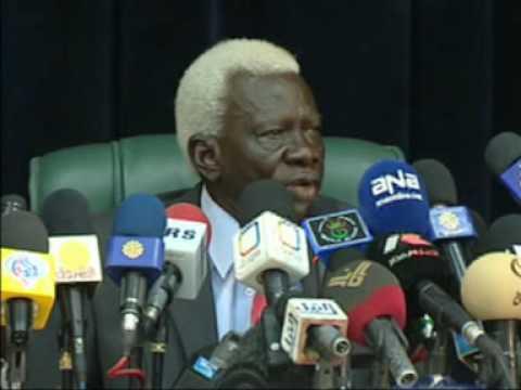 April 10, 2010 -  NEC Chairman Abel Alier announces start of Sudan
