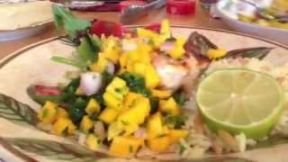Caribean Blackened Salmon/grouper With Mango Salsa By Chef Uldis