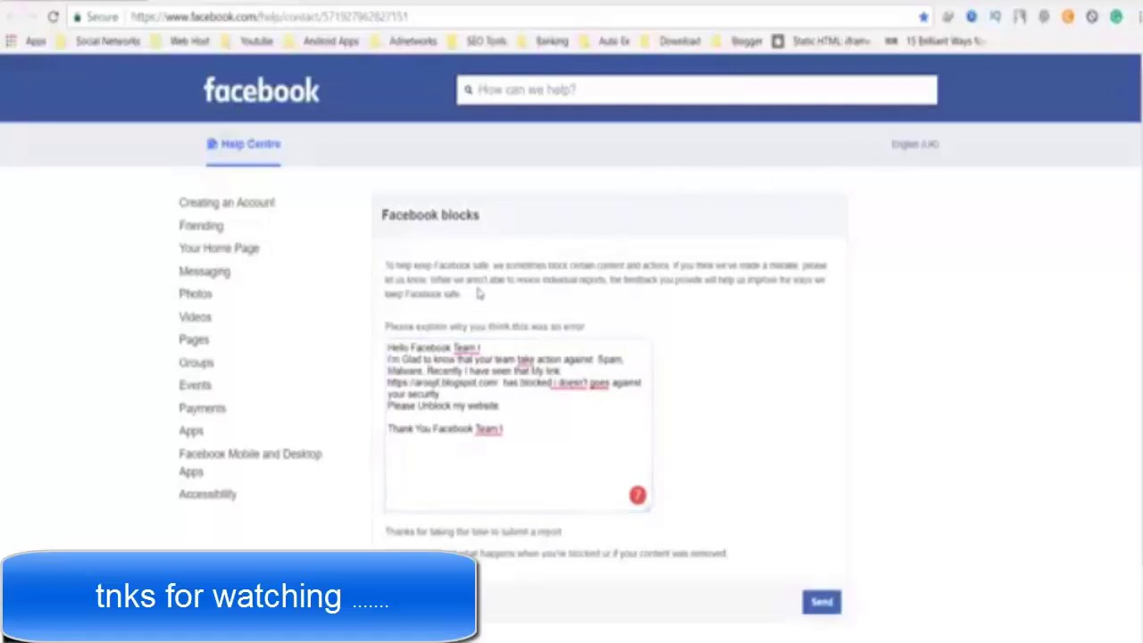 How to Unblock URL from Facebook | Website URL Blocked By Facebook Unblock