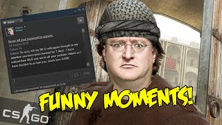 CS GO FUNNY MOMENTS - GABEN UNBANNED ME , 360 NO SCOPE , NINJA DEFUSE FAIL (Funtage)