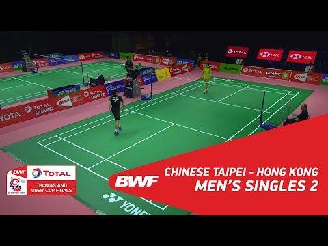 Thomas Cup | MS2 | WANG Tzu Wei (TPE) vs LEE Cheuk Yu (HKG) | BWF 2018