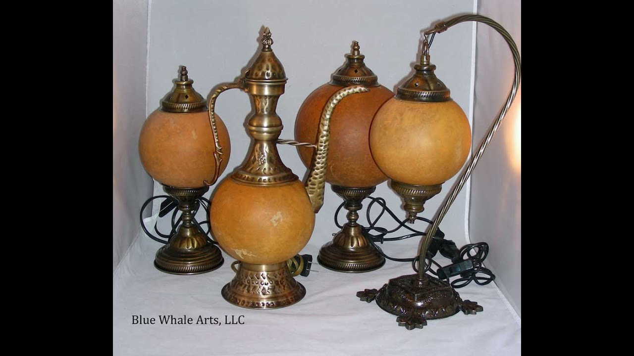 Gourd Lamp blue whale arts, european gourd lamp assembly and bonus section