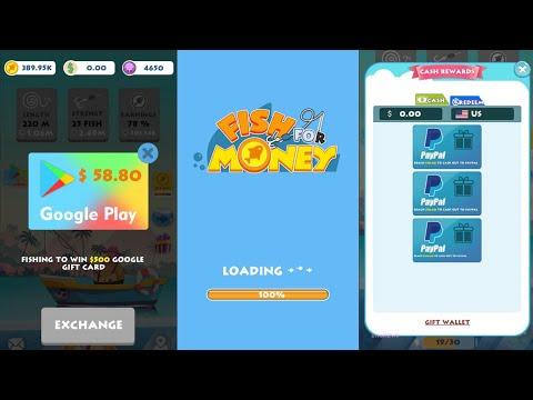 Fish For Money App   Free PayPal Money & Google Play Gift Card   Free Rewards Gaming   BAI ARVY