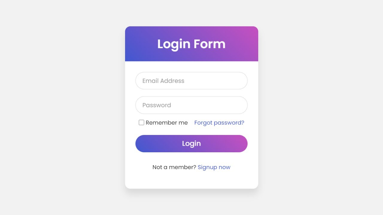 Login Form with Floating Label Animation using only HTML & CSS