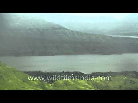 Thunder in Paradise - View of Krishna river from Panchgani