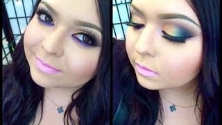 Look: Purple Smoke (A pale gold smokey eye with a pop of purple) Thumbnail