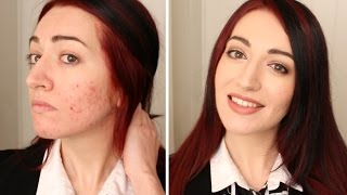 FULL COVERAGE MAKEUP ROUTINE! For Acne & WORK! 2014 Thumbnail