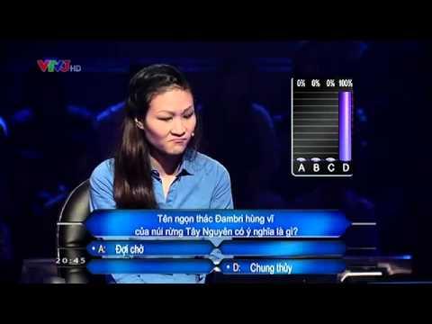 AI LÀ TRIỆU PHÚ - Câu hỏi vào kỷ lục (06/ 05 /2014) 100% khán giả đều TROLL
