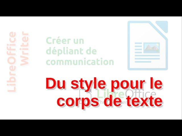 Un dépliant de communication avec LibreOffice Writer #9