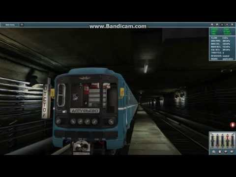Запуск поезда в метро [Trainz Simulator 2012]