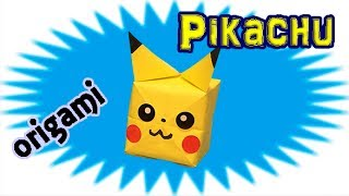 Origami Pikachu Balloon Easy for Kids | How to Make a Paper Pokemon Go | Pokémon Origami Crafts