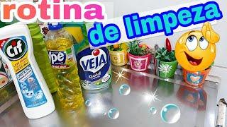 ROTINA DE LIMPEZA: LIMPEI FOGÃO | PANELAS | PISO | E MUITO MAIS | POR CASA LIMPA