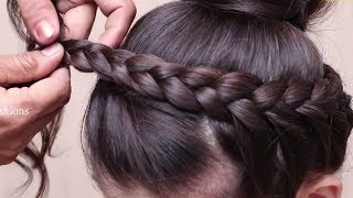 Different Hairstyles for school,collage,work//Everyday Hairstyles for long hair//Hair style girl