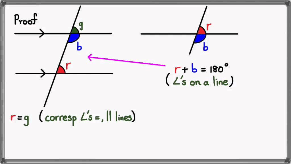 Co Interior Angles On A Parallel Line Youtube