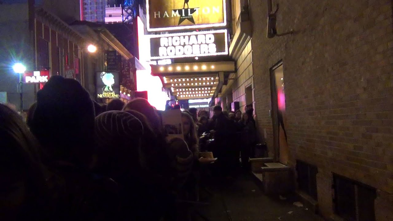 & Hamilton Stage Door Christopher Jackson Greets Fans Broadway - YouTube
