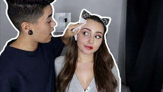 TAKING OFF MY GIRLFRIEND'S MAKEUP!