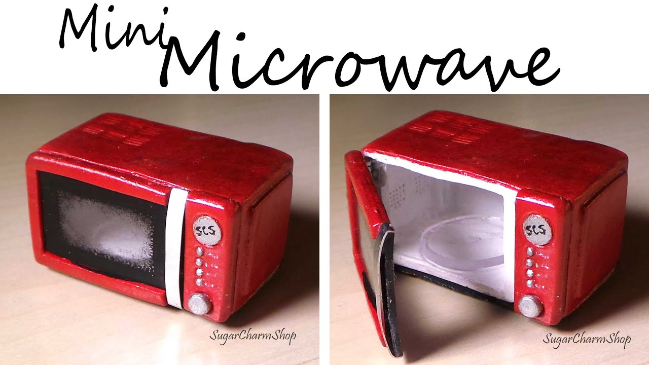 Miniature Microwave That Opens Polymer Clay Tutorial