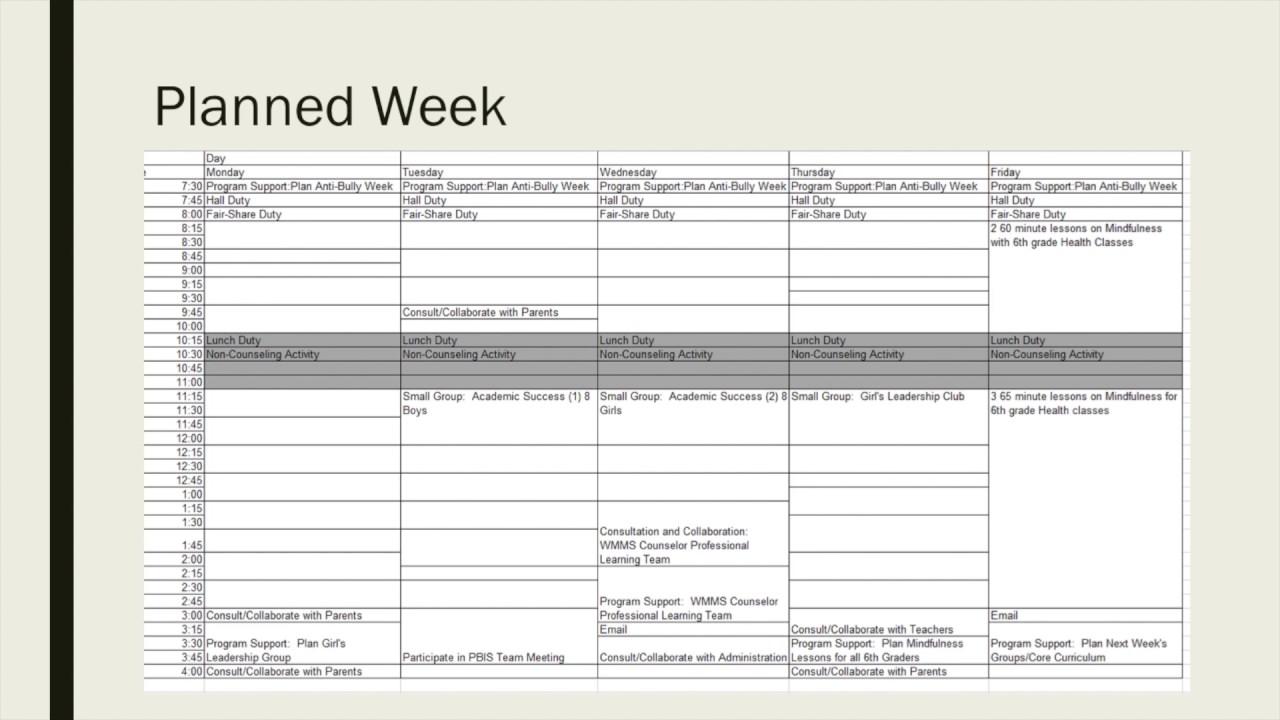 asca national model calendars
