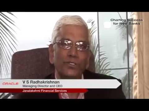 V S Radhakrishnan, MD and CEO, Janalakshmi Financial Services