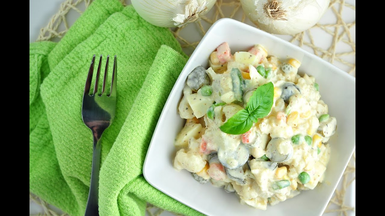Salade de chou fleur légère pauvre en calories et en matières grasses - recette - YouTube