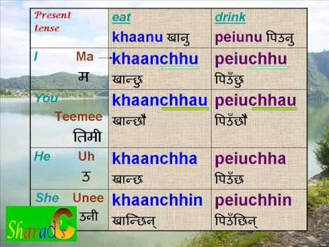 Part 5. Nepali Language - Verbs. - YouTube