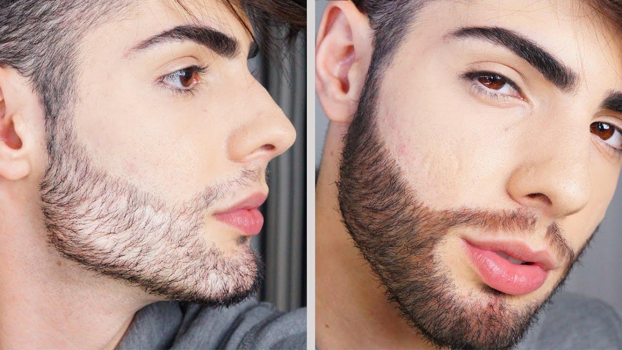 corrigir falhas na barba como