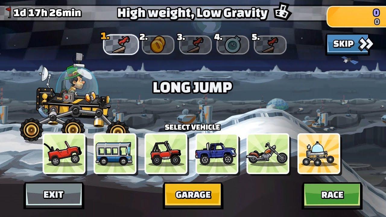 Hill Climb Racing 2 - High Weight, Low Gravity Team Battle 39637 points! | Élite Española