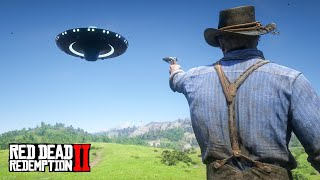 FLYING a UFO in Red Dead Redemption 2